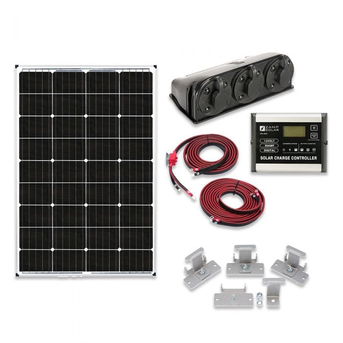 Zamp Solar 115 Watt Foundation Hardwire Solar Kit Rv